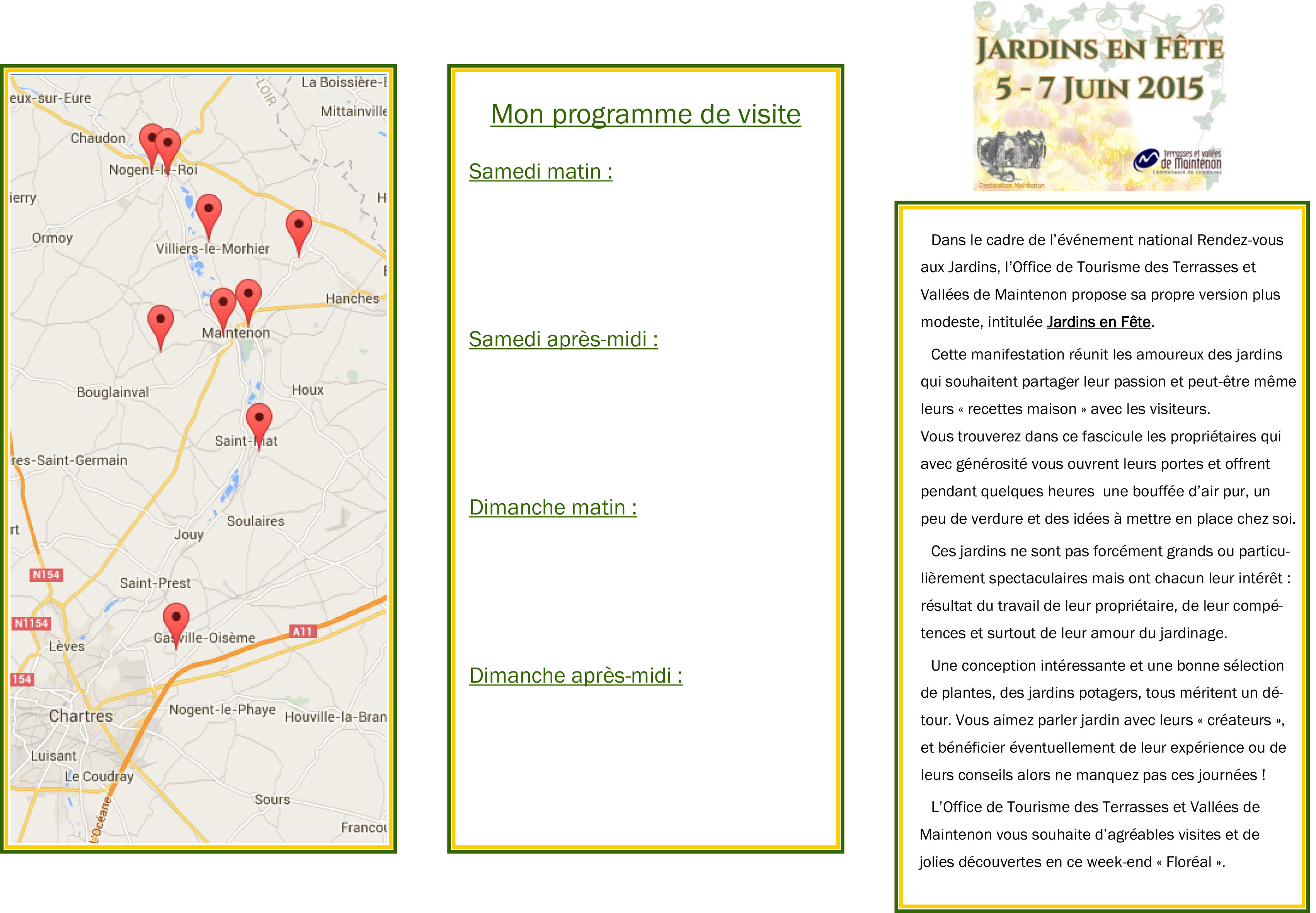 Programme jardins en f te mairie de maintenon - Declaration en mairie des meubles de tourisme ...