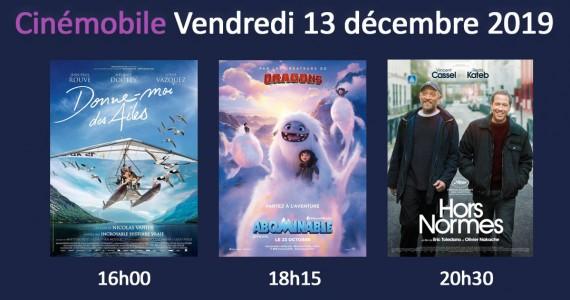 Cinémobile – Vendredi 13 Décembre 2019