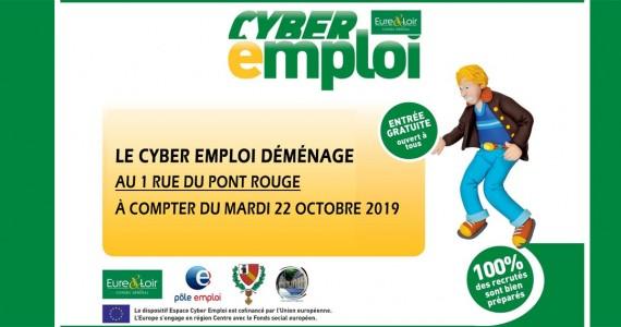 Le Cyber Emploi déménage !