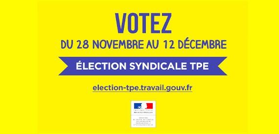 Elections Syndicales TPE – du 28 novembre au 12 décembre 2016
