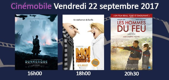 CINEMOBILE – Vendredi 22 Septembre 2017