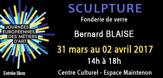 Exposition de sculpture sur verre de Bernard Blaise