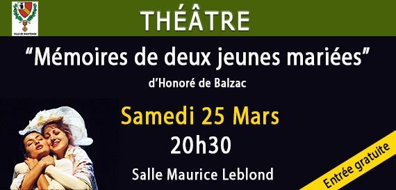Théâtre «Mémoires de deux jeunes mariées»