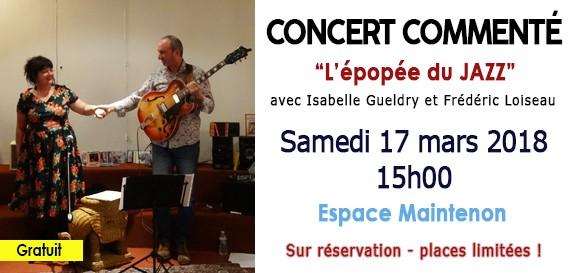 Concert commenté sur «l'Epopée du Jazz»