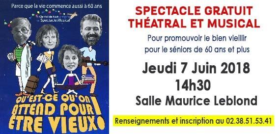 Spectacle gratuit théâtral et musical – Parcours ateliers santé séniors