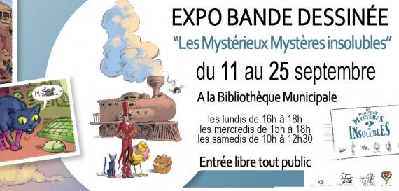 Exposition bande dessinée «Les Mystérieux Mystères insolubles»