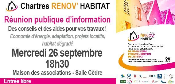 Réunion publique d'information – Chartres Renov'Habitat