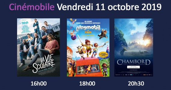 Cinémobile – Vendredi 11 Octobre 2019