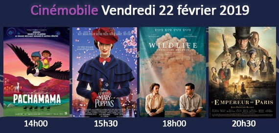 Cinémobile – Vendredi 25 janvier 2019