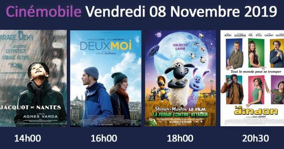 Cinémobile – Vendredi 8 Novembre 2019
