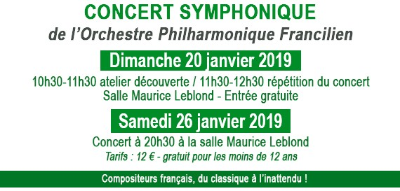 Concert de l'Orchestre Philharmonique Francilien