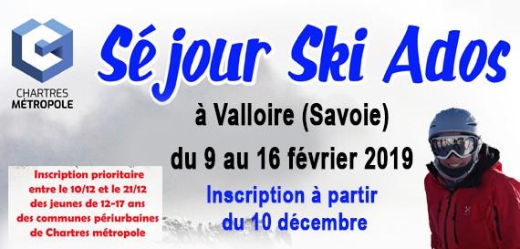 Séjour Ski Ados – Chartres Métropole