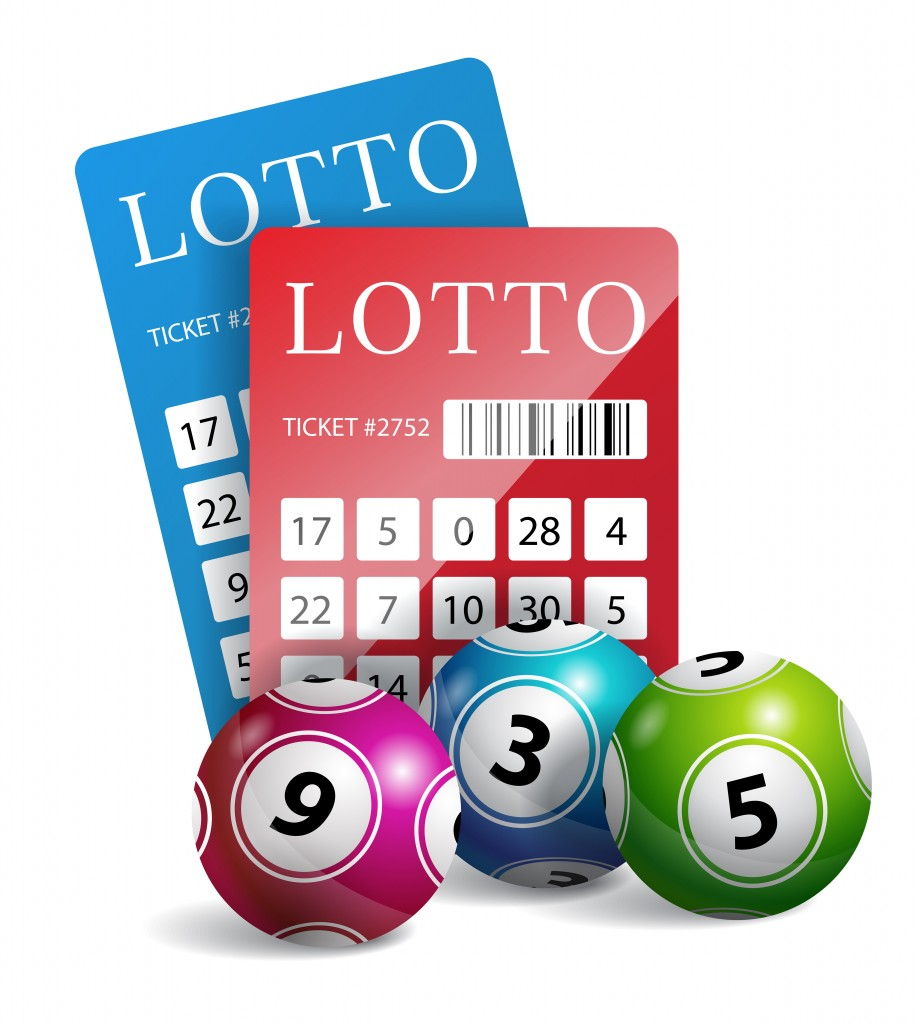 Lottery tickets with balls. Gambling, bingo, chance. Luck concept. Can be used for greeting cards, posters, leaflets and brochure