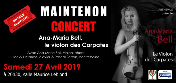 Concert Ana-Maria Bell, le violon des Carpates