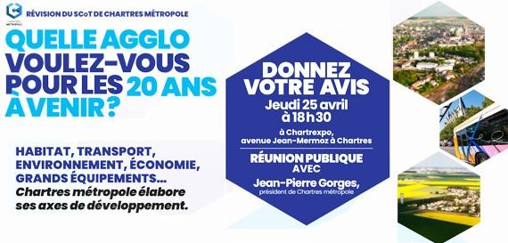 Réunion publique – Révision du SCOT de Chartres Métropole
