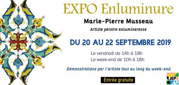 JEP 2019 – Exposition «Enluminures» de Marie-Pierre Musseau