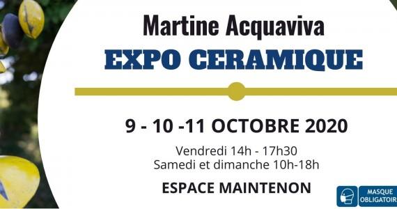 Exposition céramique Martine Acquaviva