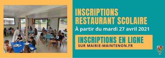 Inscriptions restaurant scolaire