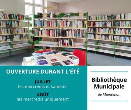 Ouverture de la bibliothèque durant l'été