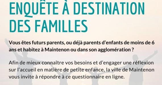 Enquête à destination des familles