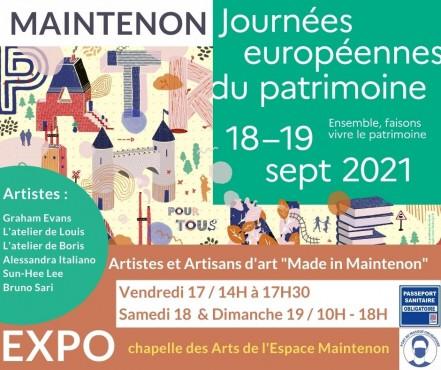 JEP 2021 : Des artisans et artistes «Made in Maintenon» dans la chapelle des Arts !